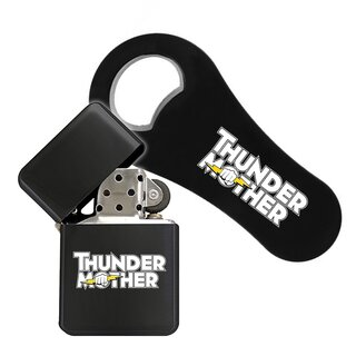 Bundle - Flaschenöffner + Benzinfeuerzeug Thundermother