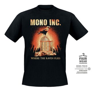 #SupportYourArtist Exklusiv - T-Shirt MONO INC. Where The Raven Flies