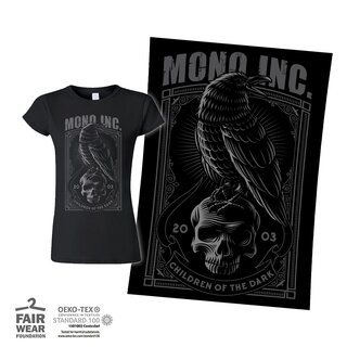Bundle - Girl-Shirt + Poster MONO INC. Children Of The Dark 2003